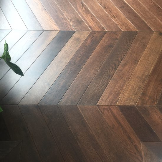 Ftsr407 Coffee Stained Chevron Flooring 18 4x90x600mm