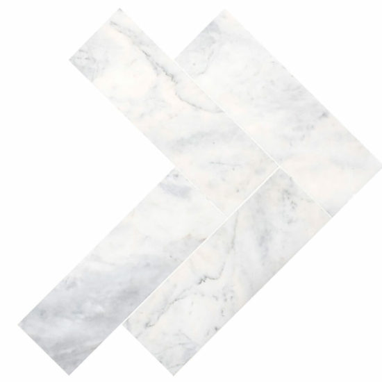 Bianco Carrara Herringbone