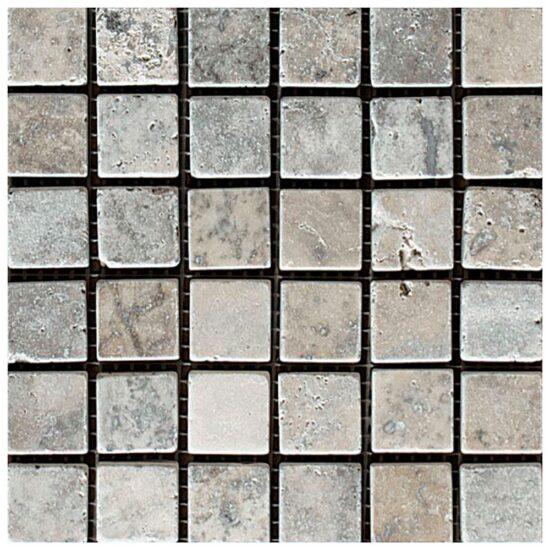 Silver Tumbled Mosaic - 305x305mm 1