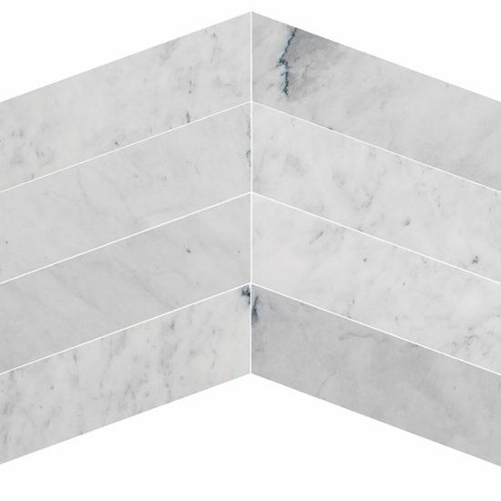 Bianco Carrara Chevron