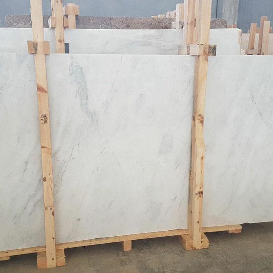 Carrara White Polished Slabs