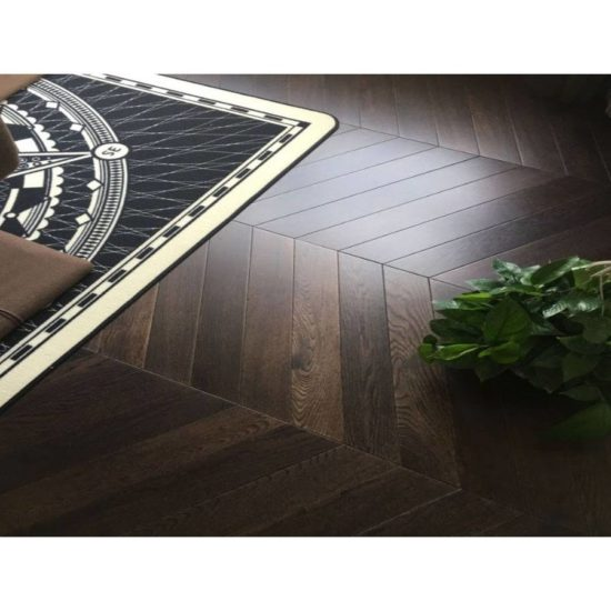 FTSR407 Coffee Stained Chevron Flooring - 18/4x90x600mm 1