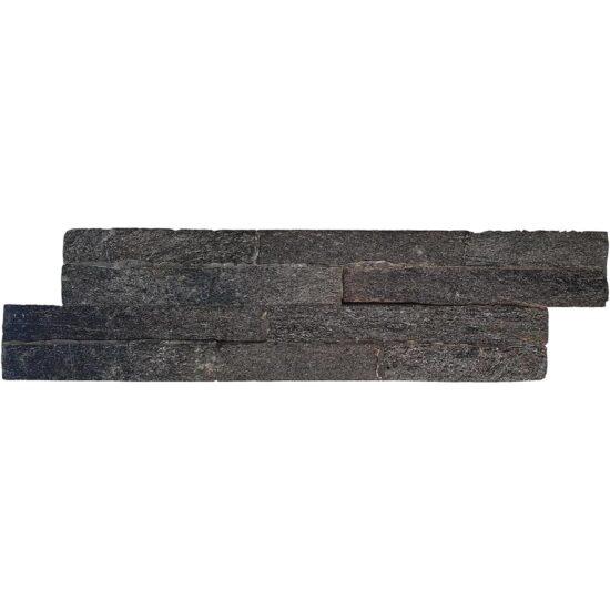 QUARTZ SPLIT FACE BLACK MATT 100X360mm
