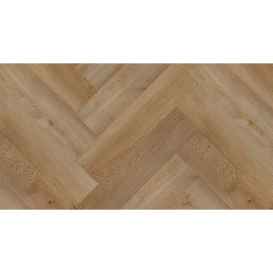 Aquacore Herringbone Rigid Vinyl 5.5x120x600mm Natural Oak